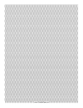 2 Cylinder Bead Brick Pattern Paper