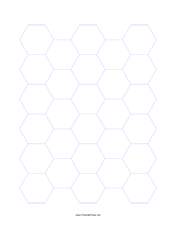 21mm Hexagon Grid Paper