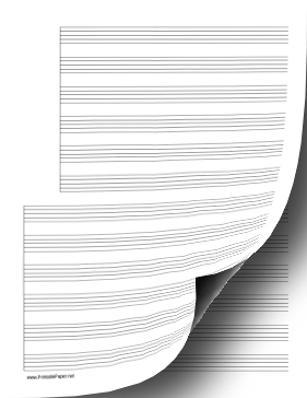 2 Systems of 6 Staves Music Paper Paper
