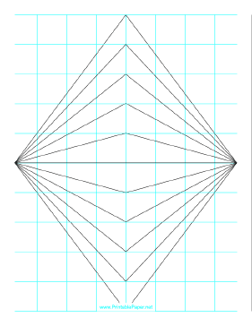 Perspective Grid - 2 point - centered Paper