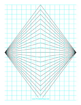 Perspective Grid - 2 point - centered - fine Paper