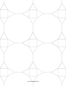tessellated graph paper