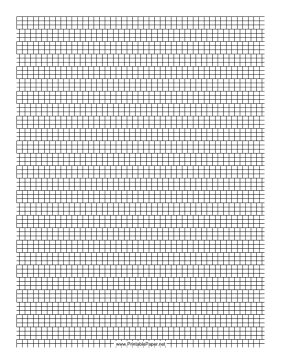 3 Cylinder Bead Brick Pattern Paper