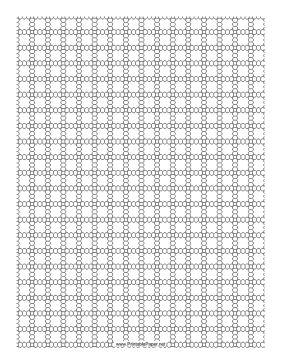 3 Seed Bead Right-Angle Weave Pattern Paper