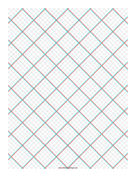 3D Paper - 5x5 Grid with Small Offset Paper