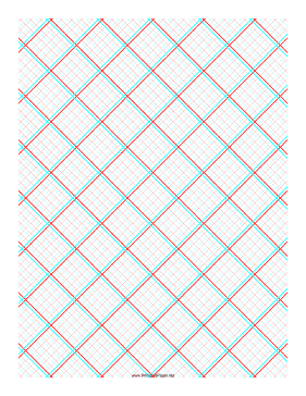 printable 3d paper 5x5 grid with medium offset - Printable Drawing Paper