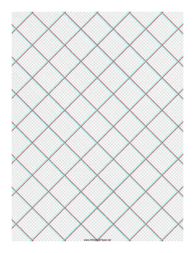 3D Paper - 10x10 Grid with Small Offset Paper