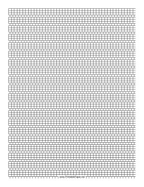 3-1 Cylinder Bead Square Pattern Paper