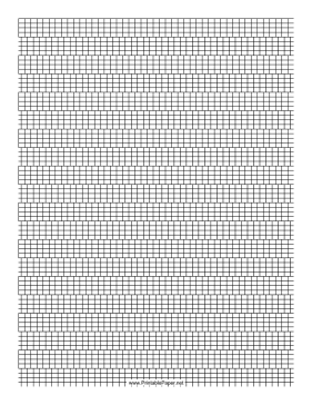 4 Cylinder Bead Brick Pattern Paper