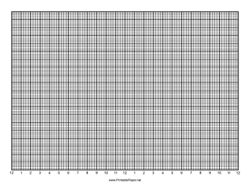 Calendar - 1 Day by Quarter Hour - 100 Divisions with Index Lines - Landscape Paper