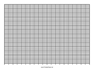 Calendar - 5 Days by Hour - 70 Divisions with Index Lines - Landscape Paper