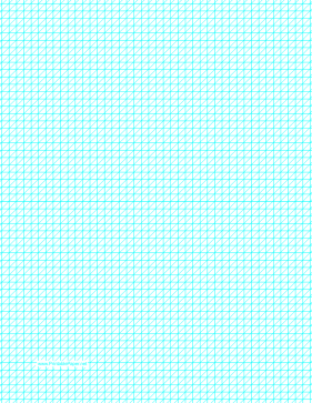 Diagonals Left With Fifth-Inch Grid Paper