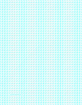 Diagonals Left With Fourth-Inch Grid Paper