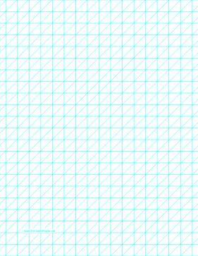 Diagonals Left With Half-Inch Grid Paper