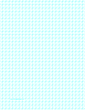 Diagonals Left With Third-Inch Grid Paper