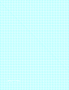 Diagonals Right With Fifth-Inch Grid Paper