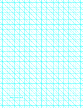 Diagonals Right With Fourth-Inch Grid Paper