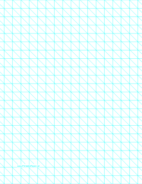 Diagonals Right With Half-Inch Grid Paper