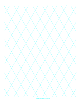 Diamond Graph Paper 2 Inch Paper