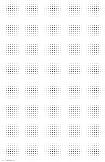 Dot Paper with five dots per inch spacing on ledger-sized paper Paper