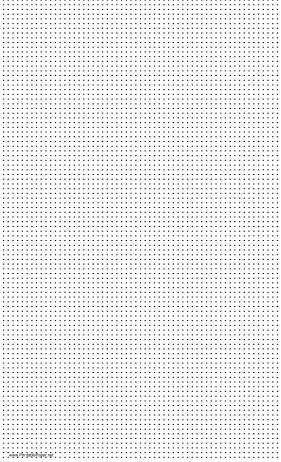 Dot Paper with seven dots per inch spacing on legal-sized paper Paper