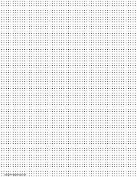 Dot Paper with seven dots per inch spacing on letter-sized paper Paper