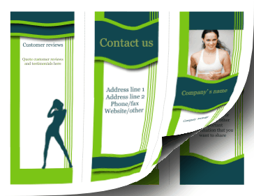 Printable Fitness Brochure-Trifold