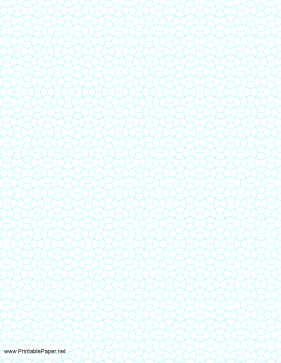 Fourth Inch Pentagon Graph Paper Paper