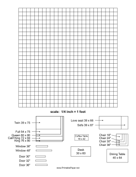 Furniture Template Paper
