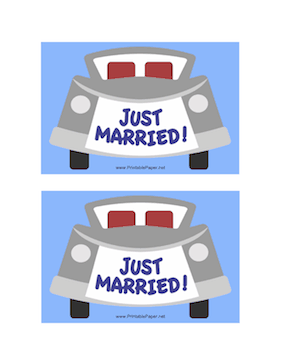 Just Married Postcard Paper
