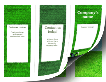 Lawn Brochure-Trifold Paper