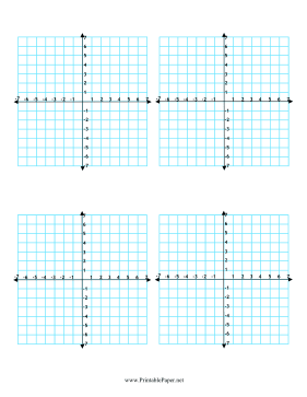 photo relating to Printable Graph Paper With Axis known as Printable Numerous Coordinate Graphs 4-for every-Website page