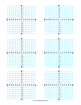 picture relating to Coordinate Planes Printable named Printable A number of Coordinate Graphs 6-for each-Site