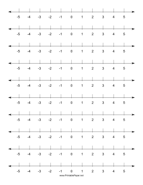 Numberline-Horizontal Paper