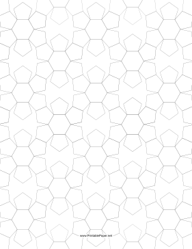 Pentagons and Hexagons Tiled Small Paper