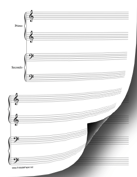 Piano Duet-1 Piano in 4 Hands-low Music Paper Paper