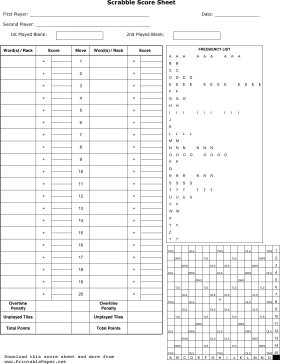 photograph about Free Printable Scrabble Board identify Printable Scrabble Rating Sheet