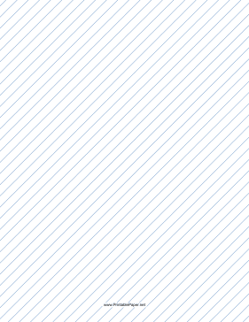 Slant Ruled Paper — Medium Ruled Right-Handed, High Angle — blue lines Paper