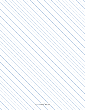 Slant Ruled Paper — Narrow Ruled Left-Handed, High Angle — blue lines Paper