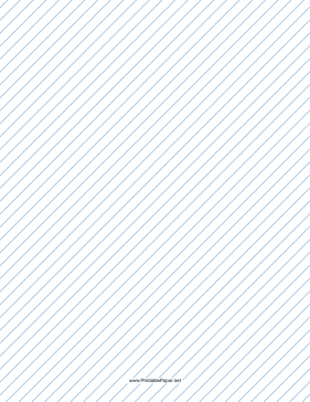 Slant Ruled Paper — Narrow Ruled Right-Handed, High Angle — blue lines Paper