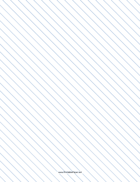 Slant Ruled Paper — Wide Ruled Left-Handed, High Angle — blue lines Paper
