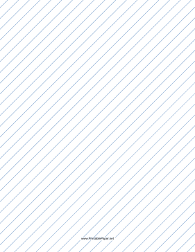 Slant Ruled Paper — Wide Ruled Right-Handed, High Angle — blue lines Paper
