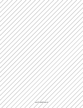 Slant Ruled Paper — Wide Ruled Right-Handed, High Angle Paper
