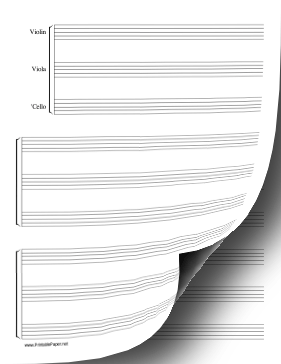 String Trio Music Paper Paper