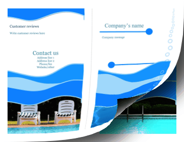 Swimming Pool Brochure-Bifold Paper