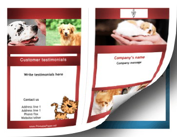 Veterinary Brochure-Bifold Paper