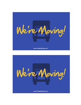 We're Moving Postcard Paper