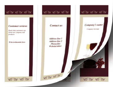 Wine Brochure-Trifold Paper