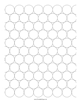 Graph Paper - Compact Circles Paper