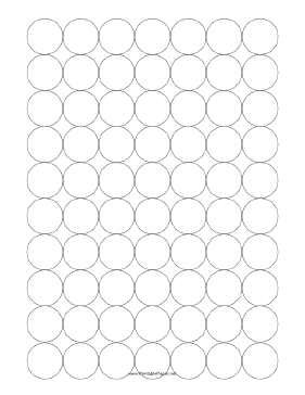 Graph Paper - Spaced Circles Paper